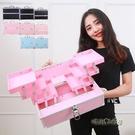 大號大容量多層專業化妝包手提美甲紋繡彩妝半永久工具箱韓國「時尚彩紅屋」