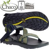 Chaco ZCM01_HD12步伐綠 男越野運動涼鞋-Z1標準款 綁帶涼鞋