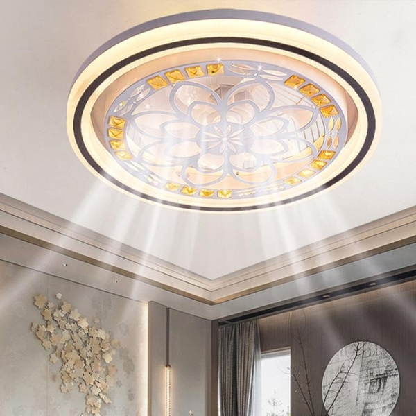 110V臥室北歐現代簡約隱形家用一體輕薄餐廳客廳風扇燈 樂活生活館