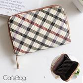 Catsbag-經典格紋皮革風琴夾卡片包-36080517