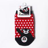 熊本熊 卡通直版童襪 紅底白點