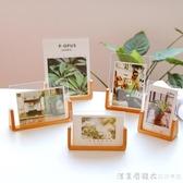 韓式創意木質相框5寸6寸7寸8寸亞克力婚紗照片框兒童櫸木U型畫框 漾美眉韓衣