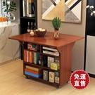 折疊桌折疊桌子多功能家用小戶型折疊餐桌可行動廚房儲物櫃客廳邊櫃 【全館免運】