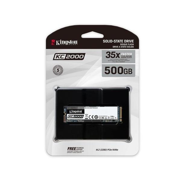 金士頓 M.2固態硬碟 【SKC2000M8/500G】 KC2000 500GB NVMe SSD 新風尚潮流