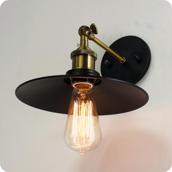 歐式復古工業壁燈─直徑23高25離壁16.5cm─E27X 1【雅典娜家飾】AGK343愛迪生燈泡Raymond