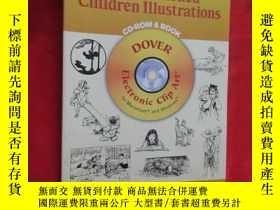 二手書博民逛書店Old-Fashioned罕見Children Illustrations CD-ROM and Book (16