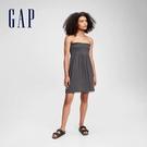 Gap女童 莫代爾彈力平口洋裝 687185-溫和黑