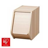 日本 IRIS 木質可掀門堆疊櫃 寬20CM 淺木色 採E1板材