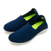LIKA夢  LOTTO 輕量編織健步鞋 WOVEN 系列 藍米 6036 男