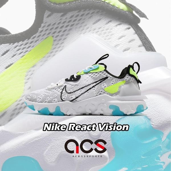 Nike 休閒鞋 React Vision Worldwide 白 黑 螢光綠 男鞋 運動鞋 【ACS】 CT2927-100
