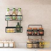 廚房儲物架子雙層掛籃免打孔置物架收納籃調料架【輕奢時代】