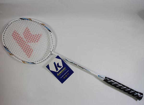 [送握把皮]多件優惠 KAWASAKI KB1000 POWER 穿線鋁碳羽拍(送拍袋) 羽球拍 藍色 KBC01000BL [ 陽光樂活= ]