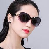 太陽鏡女防紫外線時尚偏光女士圓臉墨鏡韓版潮明星款大臉眼鏡 polygirl