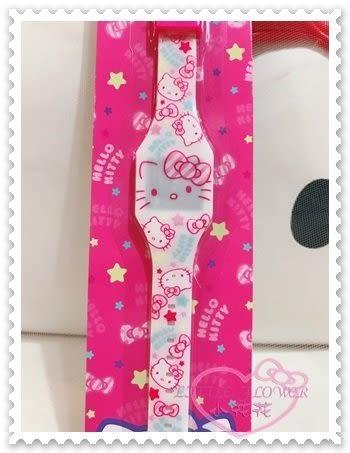 ♥小花花日本精品♥Hello Kitty 電子錶電子數字錶數字腕錶兒童錶大臉蝴蝶結星星眨眼 22016607