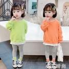 女童洋氣套裝2020新款秋裝韓版童裝女孩休閒衛衣時髦寶寶兩件套潮 小艾新品