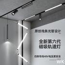 白色磁吸軌道燈48V無主燈嵌入式射燈暗裝...
