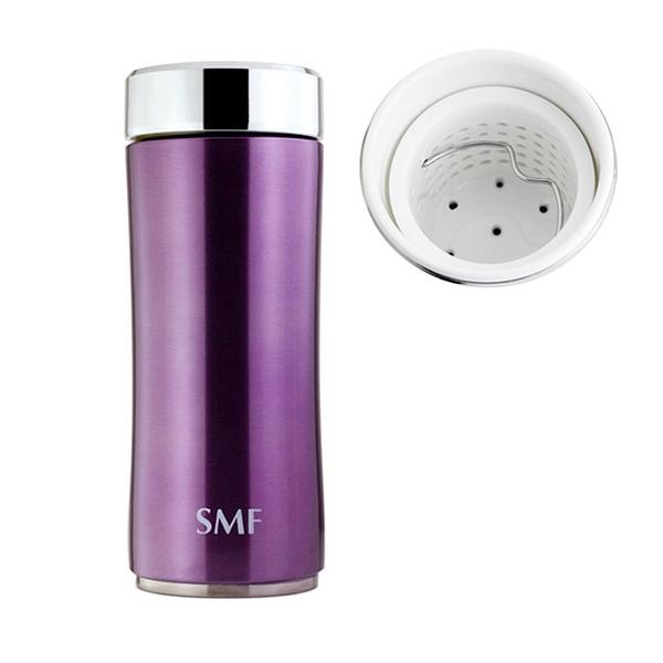 SMF骨瓷保溫杯 鋅時尚濾茶款 340ml (羅蘭紫)