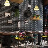 無紡布自粘壁紙 復古3D立體磚頭磚塊磚紋酒吧宿舍服裝店背景墻紙