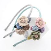 甜美小清新森女風發箍毛呢布藝花朵發飾頭花發卡壓發頭箍頭飾品女