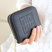 新款荔枝紋女士錢包春韓版女短款小零錢包男式拉鏈包手拿包包