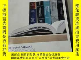 二手書博民逛書店2016-2017罕見CATALOG WEST ACADEMIC