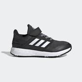 Adidas Fortafaito El K [EE7309] 中童鞋 運動 魔鬼氈 舒適 透氣 包覆 愛迪達 黑白