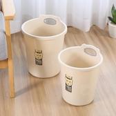 垃圾桶家用客廳臥室衛生間大號卡通無蓋歐式紙簍廁所廚房塑料創意