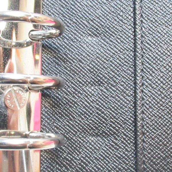 LOUIS VUITTON LV 路易威登 黑色棋盤格紋活頁環記事本封套 R20242 【BRAND OFF】