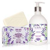IKP巴黎乳油木 薰衣草花園香氛液體皂(500ml)+薰衣草手工皂(200g)