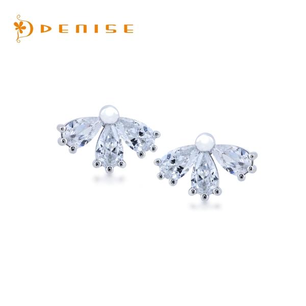 925純銀「花瓣」耳環 / 針式耳環