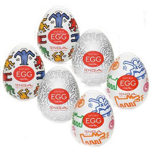 傳說情趣~ 日本TENGA×Keith Haring EGG Assort Pack凱思蛋(3種不同造型與刺激)6入/盒