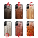 三星A30/A20手機殼A50/A50S/A30S新款A70木紋鋼化玻璃tpu軟邊A51 A71防摔保護套Note10 Lite