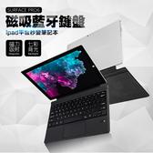 surface 鍵盤保護套 藍牙鍵盤 surface Pro3/4/5/6共用 鍵盤 背光 七彩燈 磁吸鍵盤保護套