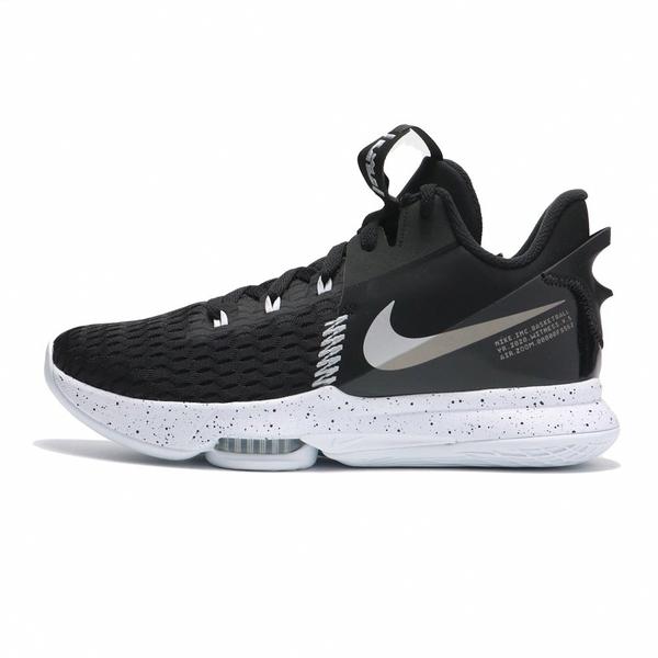 NIKE 籃球鞋 LEBRON WITNESS 5 EP 黑白 潑墨 XDR 氣墊 男 (布魯克林) CQ9381-002