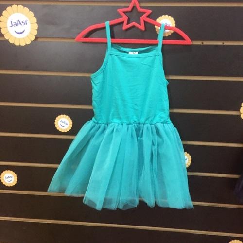 ☆棒棒糖童裝☆(61868)夏女童細肩紗裙芭蕾洋裝  5-15  藍;綠