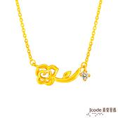 J'code真愛密碼 真愛-薔薇戀曲黃金項鍊