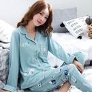 睡衣 100%純棉睡衣女春秋款長袖套裝冬季大碼睡衣夏季女士可外穿家居服