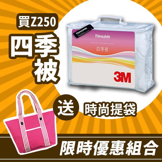 【限時優惠組合】3M 新絲舒眠ThinsulateZ250 四季被 標準雙人 送時尚提袋/棉被/抗過敏/防蟎/水洗/包包