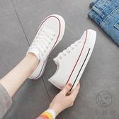增高鞋夏季薄款厚底帆布鞋女韓版百搭休閒【小酒窩服飾】