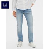 Gap男裝 柔軟修身彈力牛仔長褲 492732-淺色水洗