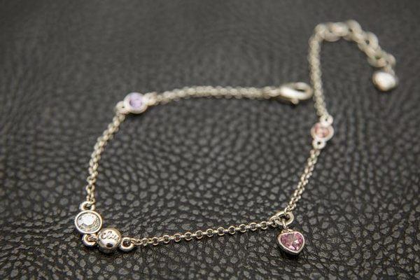 CLUE 愛心彩色水晶手環