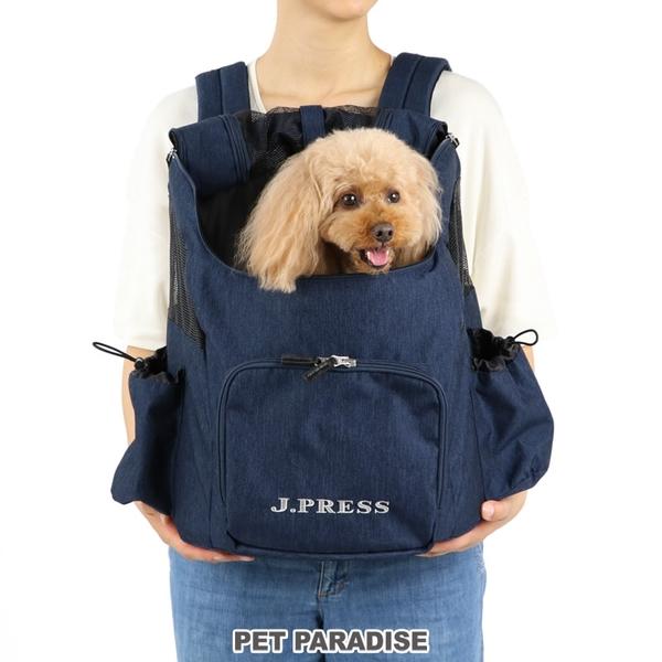 【PET PARADISE 寵物精品】JPRESS 新款透氣前背/後背包【深藍】 (4-8kg) 寵物外出包