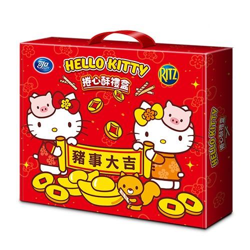 Hello Kitty 捲心酥禮盒374g【愛買】