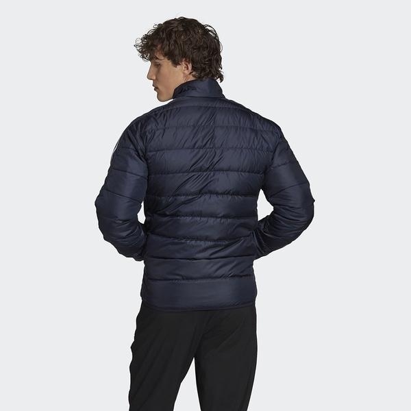 Adidas Essentials Down 男裝 羽絨外套 立領 休閒 保暖 口袋暗扣 彭于晏 藍【運動世界】GH4594