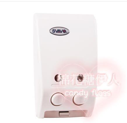 酒店浴室壁掛式雙頭手動洗發水沐浴露盒  LVV2988【棉花糖伊人】