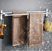 毛巾架 免打孔衛生間浴巾架吸盤式掛鉤浴室掛架單桿毛巾桿廁所置物TW【快速出貨八折鉅惠】