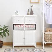 現代簡約田園斗櫃臥室白色床頭櫃地中海收納櫃抽屜式多層小櫃子 酷斯特數位3c YXS