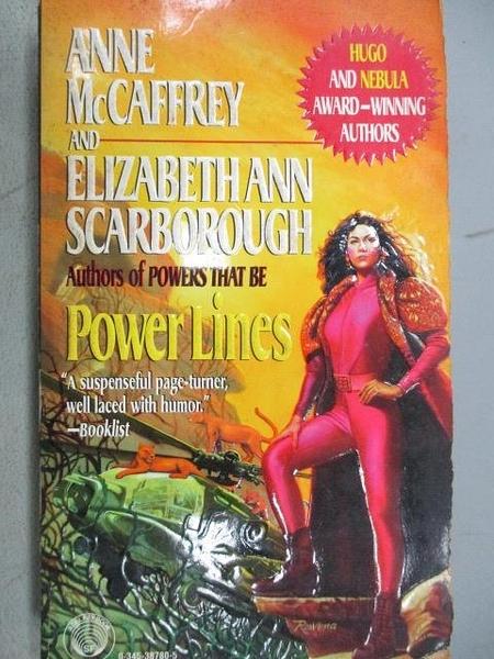 【書寶二手書T5/原文小說_MOP】Power Line_Anne AcCaffrey