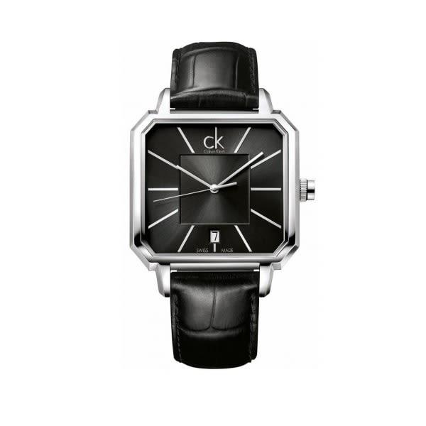CK - 黑色時尚方形概念男錶 ck手錶 男錶女錶對錶
