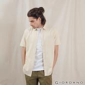 【GIORDANO】男裝純棉口袋短袖襯衫 - 85 羊皮紙黃